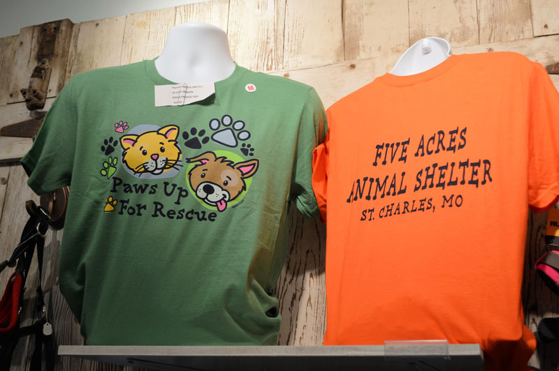 c638a0ffbbd9 Green-Orange-Cat-and-Dog-T-Shirts-$15 :: Five Acres Animal Shelter